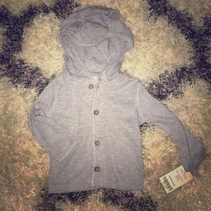 NWT Hooded Button Up